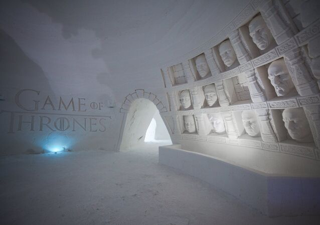 Snowvillage and HBO Nordic created the world's snow hotel in the middle of the game of Thrones