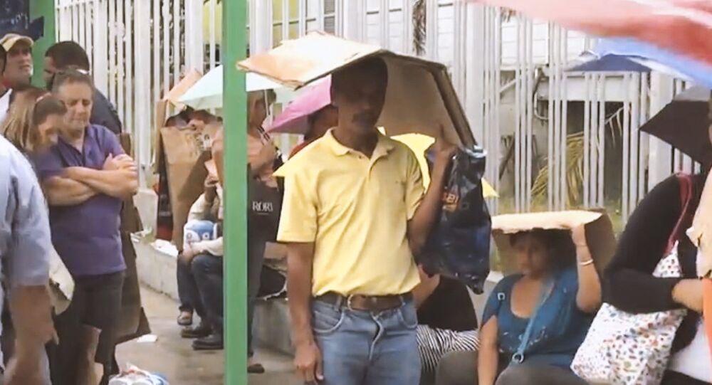 People on streets of Venezuela