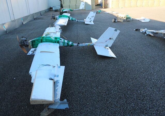 A drone used to attack Russian military facilities in Syria