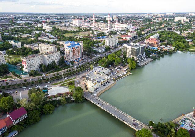 Solnechny Ostrov (Sunny Island) Park and Lake Staraya (Old) Kuban in Krasnodar. (File)