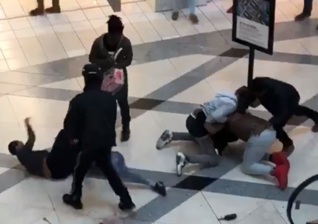 Fight breaks out at Lenox Mall in Atlanta, Georgia