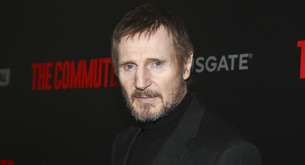Liam Neeson attends the premiere of The Commuter at AMC Loews Lincoln Square on Monday, Jan. 8, 2018, in New York