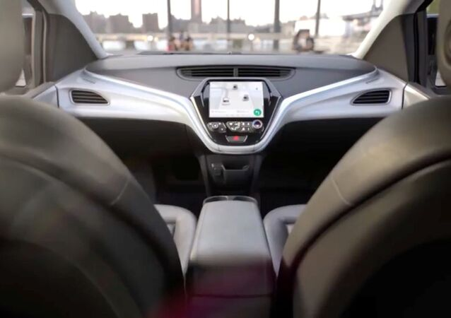 GM's planned Cruise AV driverless car features no steering wheel or pedals in a still image from video released January 12, 2018