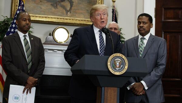 President Donald Trump speaks during an event to honor Dr. Martin Luther King Jr., in the Roosevelt Room of the White House, Friday, Jan. 12, 2018, in Washington - Sputnik International