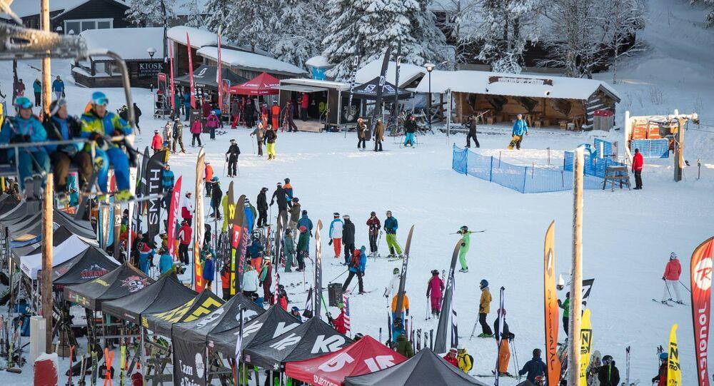 Skistar resort in Salen, Sweden