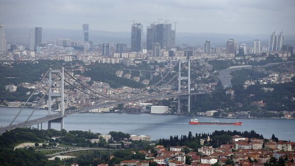 View of Istanbul with the Bosporus and the Bosporus Bridge in Turkey. (File) - Sputnik International