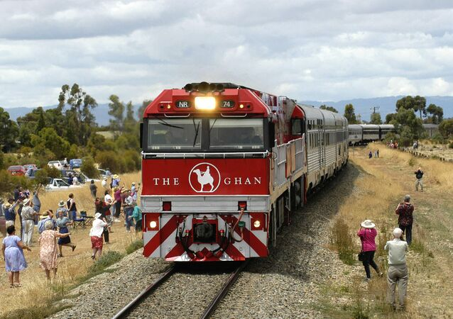 The Ghan, the first Australian passenger train to travel from Adelaide to Darwin