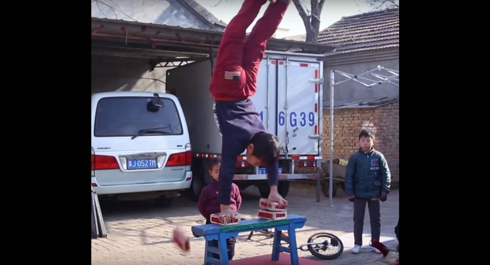 Acrobats in China