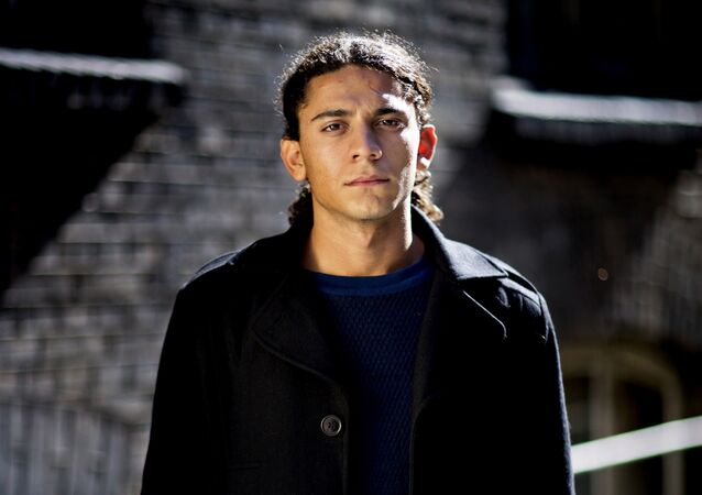 ILE - A Sept. 11, 2013 photo from files showing 18-year-old Danish poet, Yahya Hassan in Copenhagen. Danish police said Tuesday. Nov. 19, 2013 that a man has been arrested for assaulting the teenage poet of Palestinian descent whose poetry is critical of Muslims