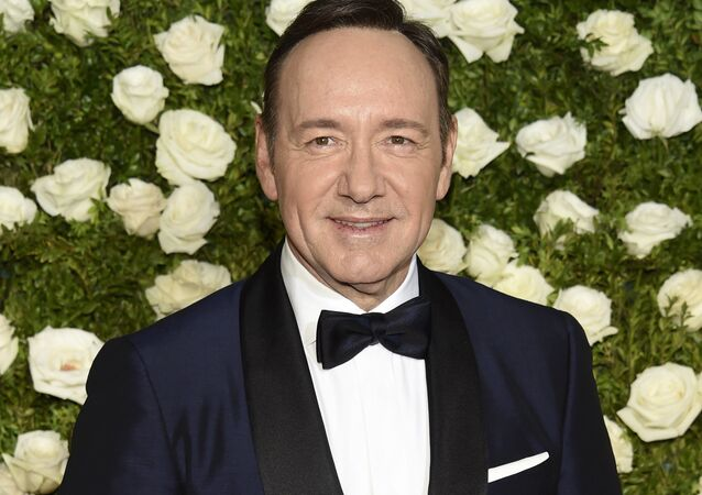 FILE - In this June 11, 2017 file photo, Kevin Spacey arrives at the 71st annual Tony Awards at Radio City Music Hall in New York