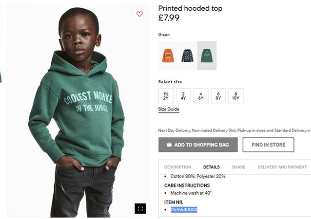 "An undated photo of an advert for a hoodie by H&M. Clothing giant H&M has apologized Monday, Jan. 8, 2017, and removed an advertising image of a black model in a sweatshirt with the words ""Coolest monkey in the jungle.''"
