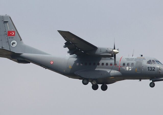 Turkish Army's Casa CN-235 cargo plane