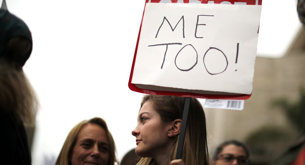 People participate in a MeToo protest march for survivors of sexual assault and their supporters in Hollywood, Los Angeles, California, U.S. (File)