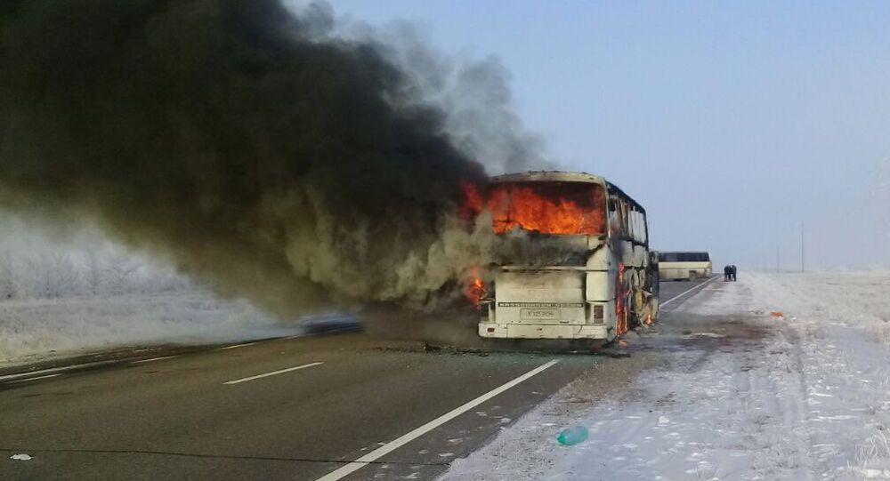 Over 50 people killed in bus fire in Kazakhstan