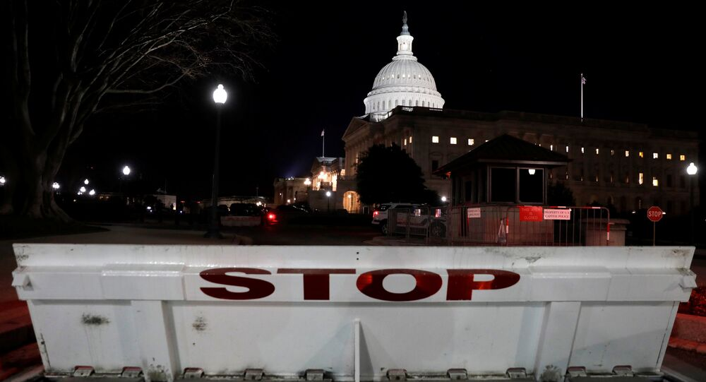 U.S. Capitol is seen shortly after beginning of the Government shutdown in Washington, U.S., January 20, 2018