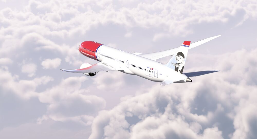 A Norwegian Air Shuttle Boeing 787-9 aircraft in flight
