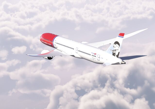 A Norwegian Air Shuttle Boeing 787-9 aircraft in flight