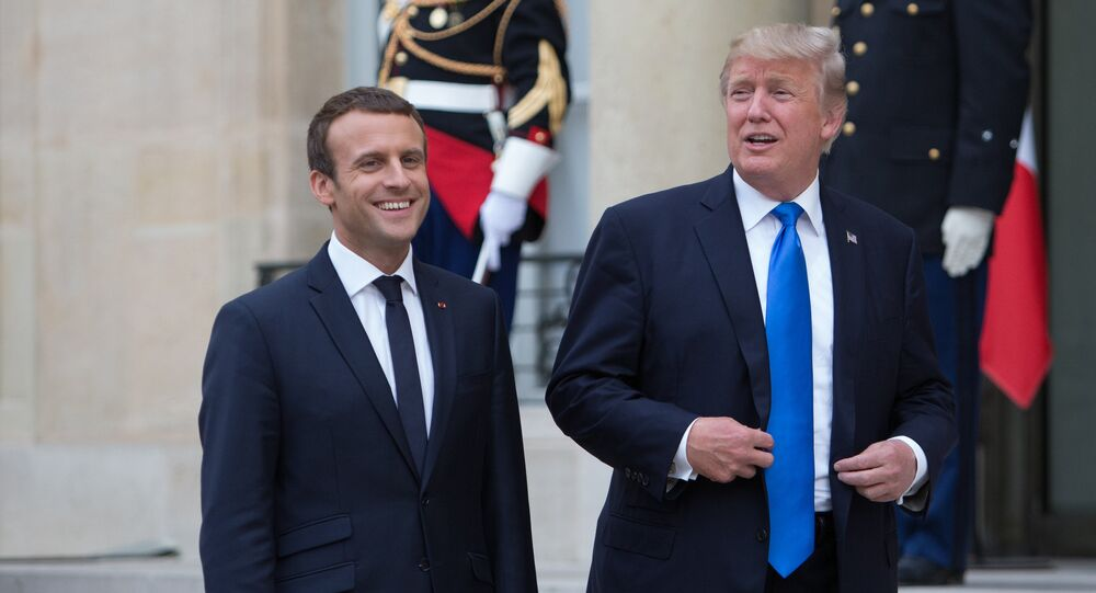 US President Donald Trump's visit to Paris