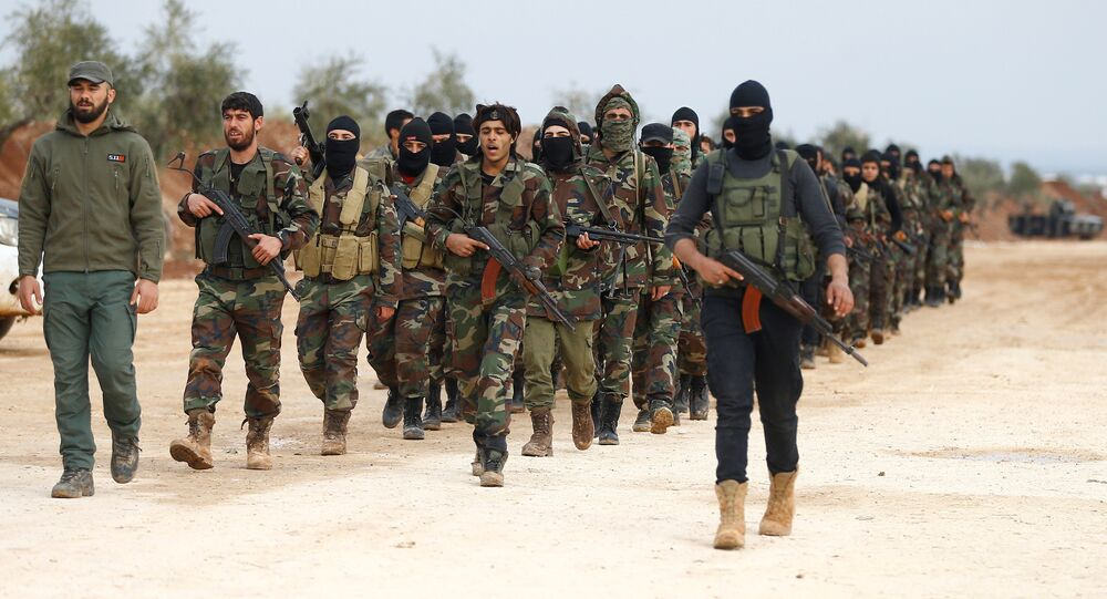 (File) Turkey-backed Free Syrian Army fighters are seen at a training camp in Azaz, Syria January 21, 2018
