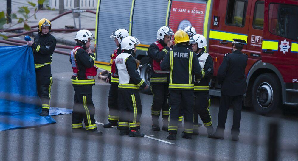 Firefighters in London (File)