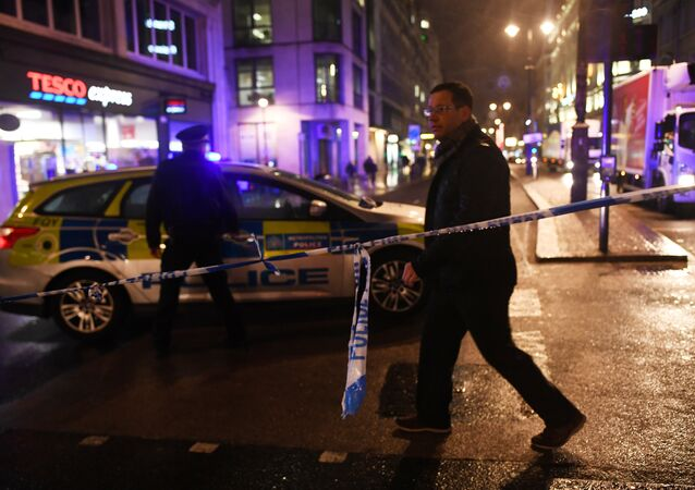 Police tape blocks the Strand near Charing Cross station after it was shut due to a gas leak, in London, Britain, January 23, 2018