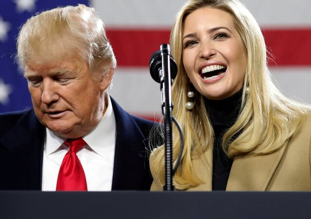 US President Donald Trump introduces his daughter Ivanka to speak during a visit to H&K Equipment Company in Coraopolis, Pennsylvania, January 18, 2018.