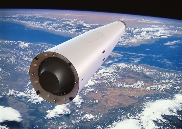 Korona launch vehicle in orbit, artist's rendering