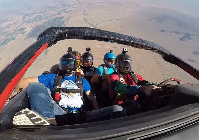 Skydiving in a Car