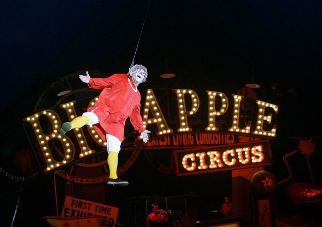 FILE - This May 6, 2007 file photo shows Barry Lubin, as  Grandma, performing in the Big Apple Circus in Boston. Lubin resigned from the Big Apple Circus following accusations that he pressured a 16-year-old aerialist to pose for pornographic photos.