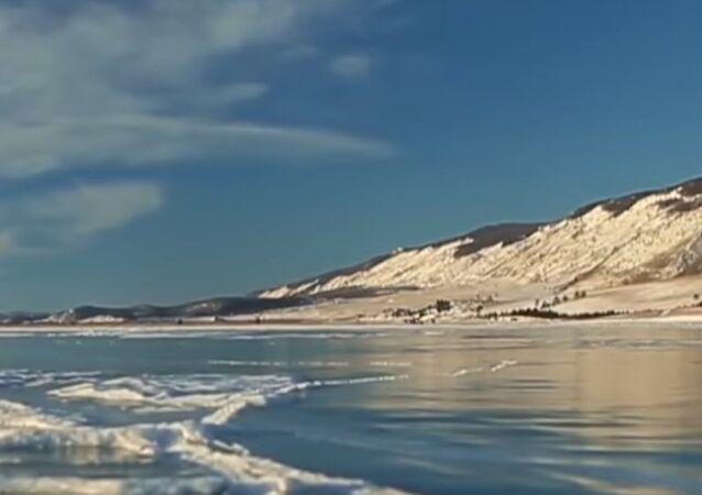 Ice-Skating at Lake Baikal