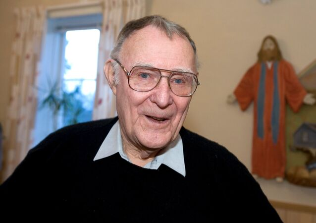 (File) Ingvar Kamprad, founder of Swedish multinational furniture retailer IKEA, is seen in Agunnaryd, Sweden December 20, 2005