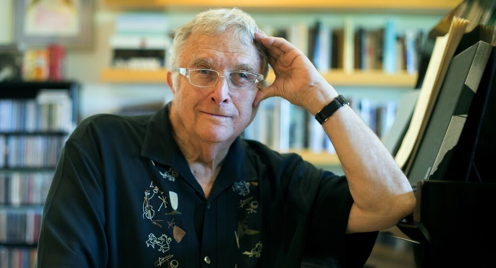 In this July 27, 2017 photo, singer-songwriter Randy Newman poses for a portrait at his home in Pacific Palisades, Calif.
