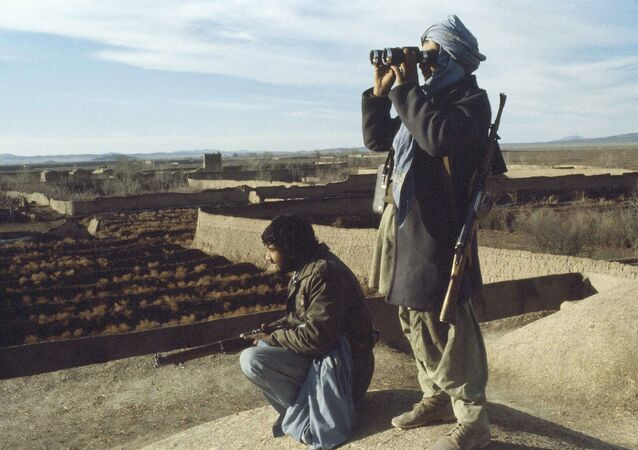 Afghan mujahedeen rebels in Afghanistan are shown, Feb. 10, 1980