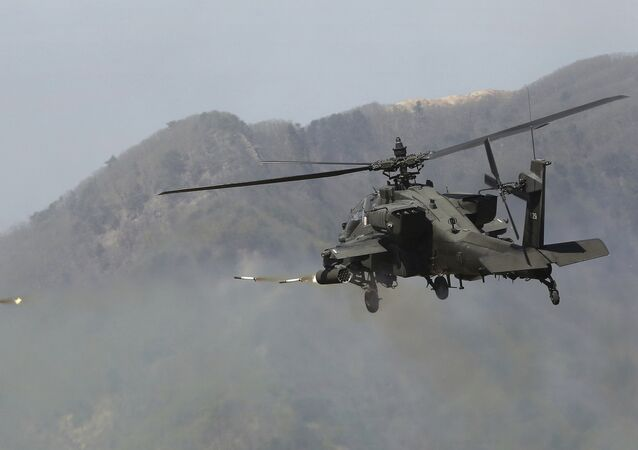 A U.S. Army's Apache helicopter (File)
