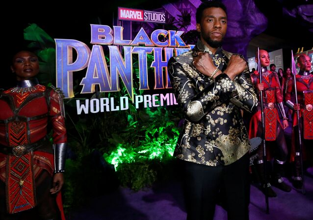 Cast member Chadwick Boseman poses at the premiere of Black Panther in Los Angeles, California, US, January 29, 2018.