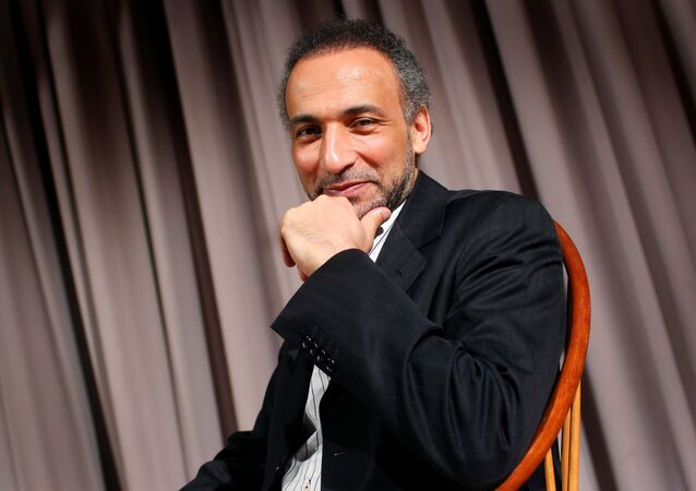 Author Tariq Ramadan is seen during an interview with Reuters in New York April 8, 2010