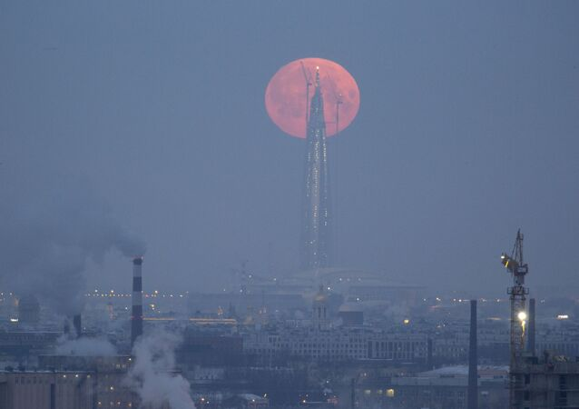 Super Blue Blood Moon Lunar Eclipse Seen Over the World