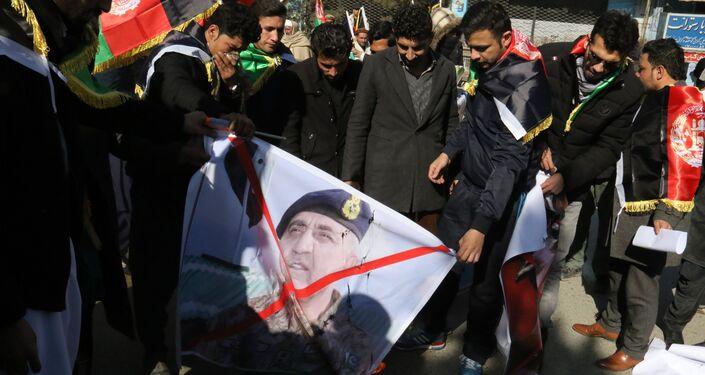 Demonstration in Kabul against Pakistan
