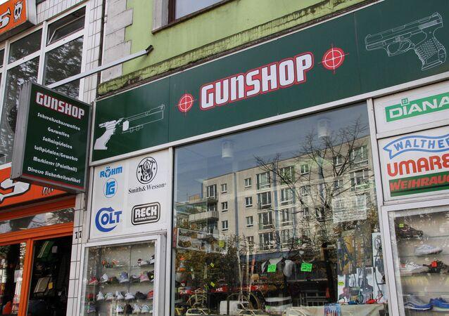A Hamburg gunshop. File photo