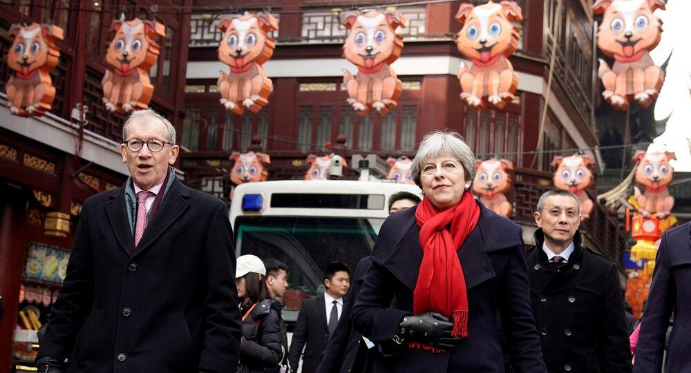 British Prime Minister Theresa May and her husband Philip visit Yu Yuan Garden in Shanghai, China February 2, 2018