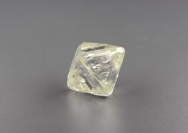 The second of the two large diamonds found at an Alrosa mine, this one coming in at 85.62 carats.