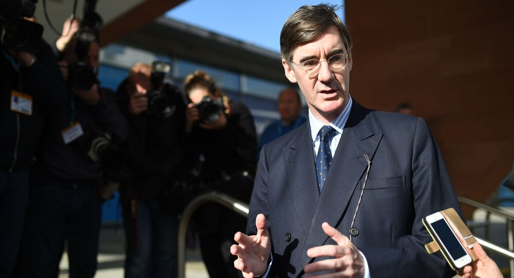 British Conservative politician Jacob Rees-Mogg arrives at the Manchester Central Convention Centre in Manchester on October 3, 2017, the third day of the Conservative Party annual conference