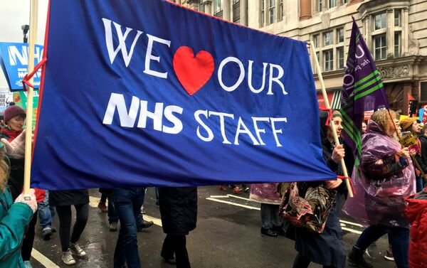 London march in support of the National Health Service (NHS) - Sputnik International