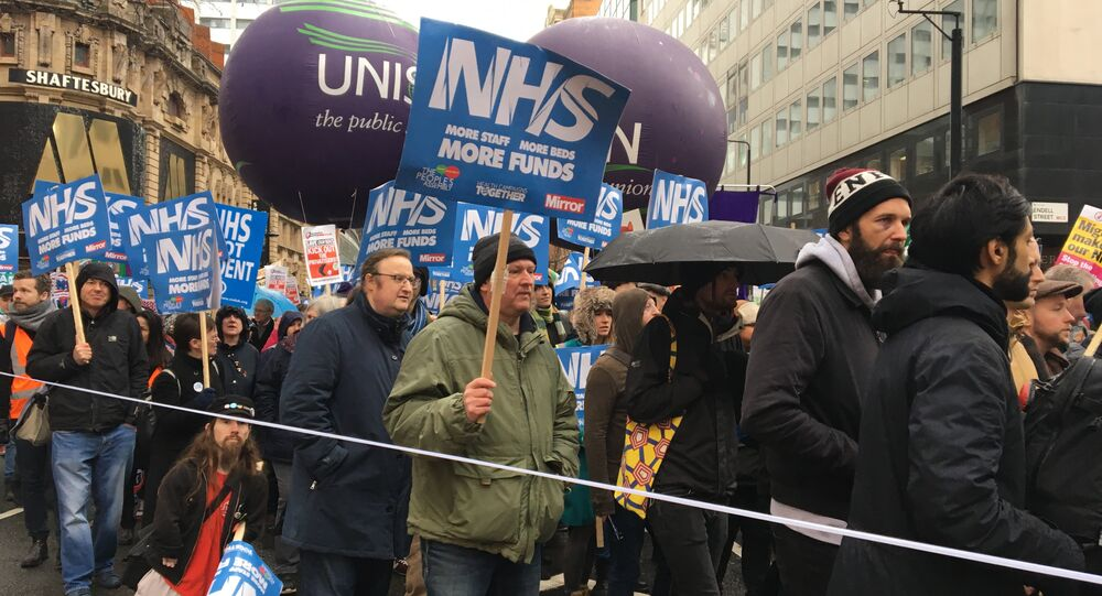 London march in support of the National Health Service (NHS)