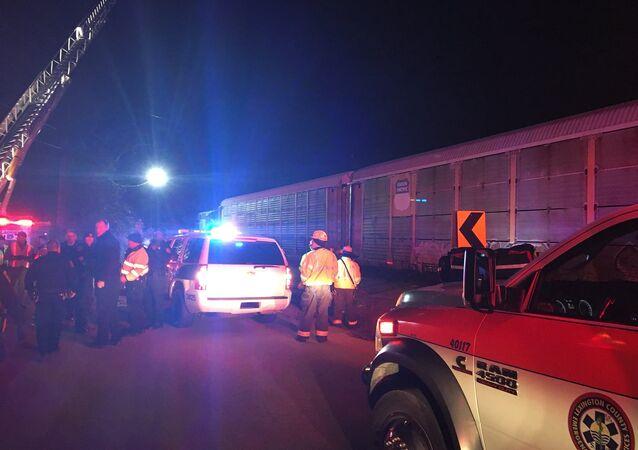 Train collision and derailment near Charleston Highway and Pine Ridge Rd.