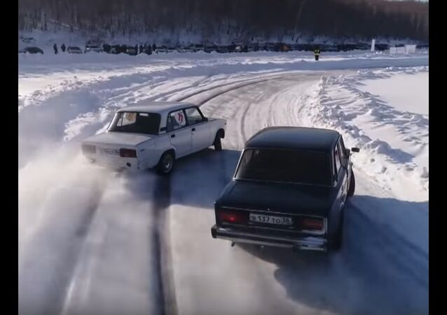 Second Winter Drift Championship in Russia