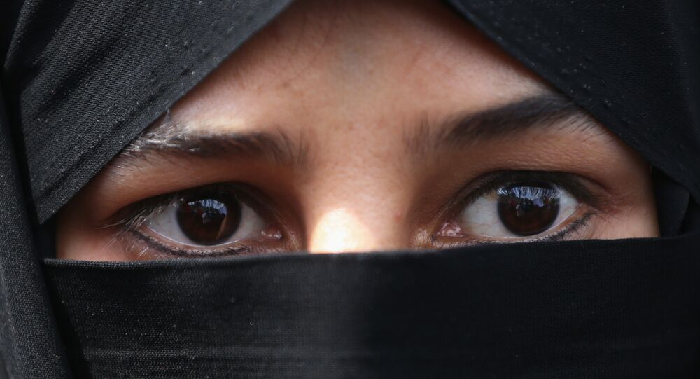 A veiled woman wearing hijab (File)