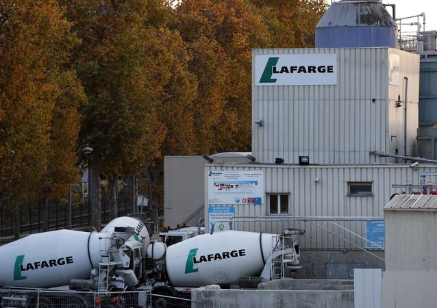 A site of cement maker Lafarge is pictured in Paris, Tuesday, Nov. 14, 2017