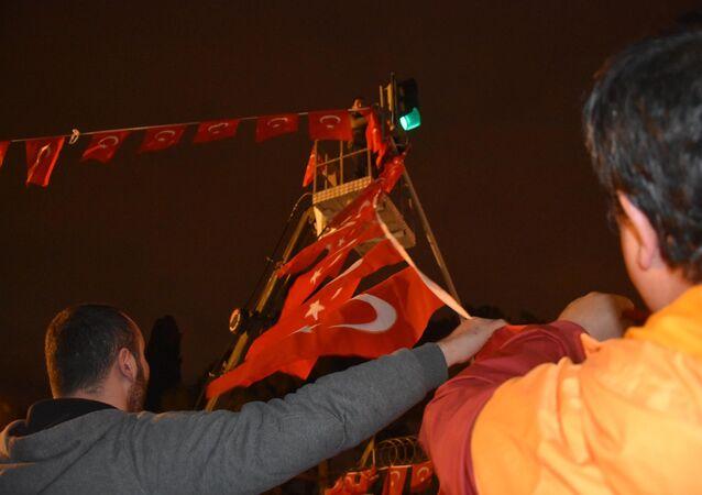 Turkish flags in Izmir, Turkey