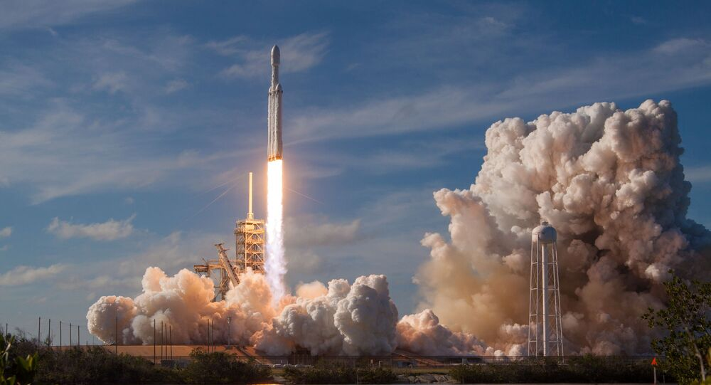 A SpaceX Falcon Heavy rocket lifts off from historic launch pad 39-A at the Kennedy Space Center in Cape Canaveral, Florida, U.S., February 6, 2018